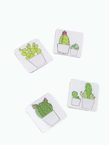 Cactus Coasters Set of 4
