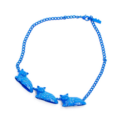 Sugar Jewels Blue Cat Parade Necklace