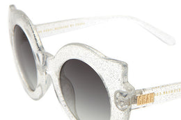 The Hanoi Weekend Sunglasses in Gloss Silver Glitter View 2