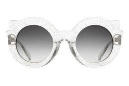 The Hanoi Weekend Sunglasses in Gloss Silver Glitter