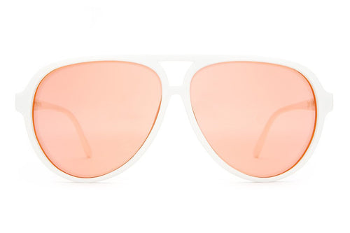 The Nite Shift Glasses in Crystal Peach