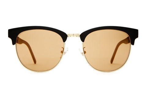 The Nudie Club Sunglasses in Flat Black