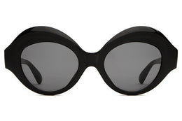 The Saloma Tropic Sunglasses - Gloss Black w/ Grey Lenses