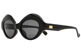 The Saloma Tropic Sunglasses - Gloss Black w/ Grey Lenses View 2