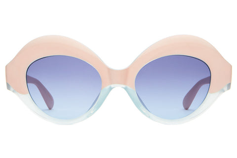 The Saloma Tropic in Semi Translucent Sky Blue and Pink