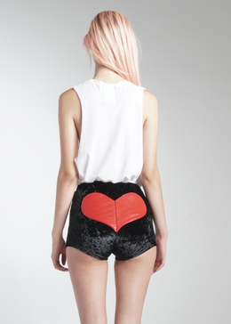Black Velvet Love Shorts