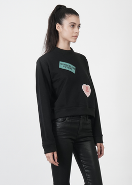 Lucid Crop Sweater in Black View 2