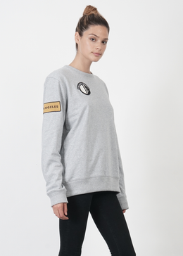 Lucid Unisex Sweater in Grey View 2