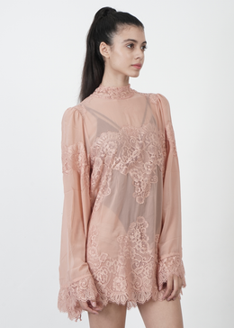 Queen 4 A Day Lace Dress in Pink View 2