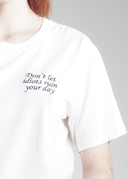 Idiots Embroidered Perfect Tee