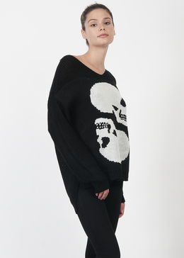 Skull Knit Sweater View 2