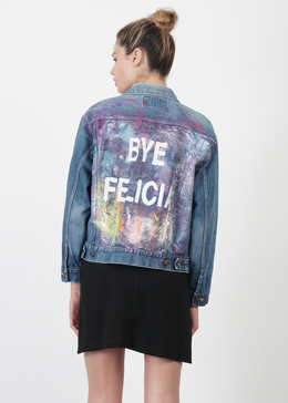 Bye Felicia Vintage Denim Jacket