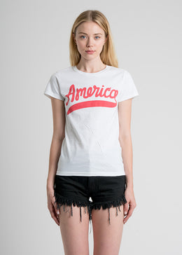 Red White and Babe Tee