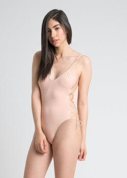 Side Lace-up One Piece