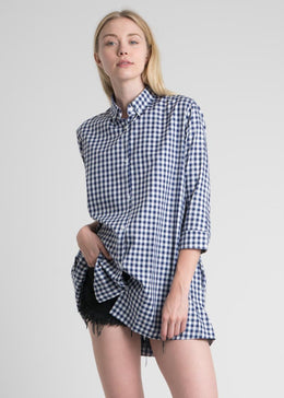 Button Down Gingham Boy Dress View 2