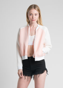 Dust Devil Bomber Jacket in Pink View 2