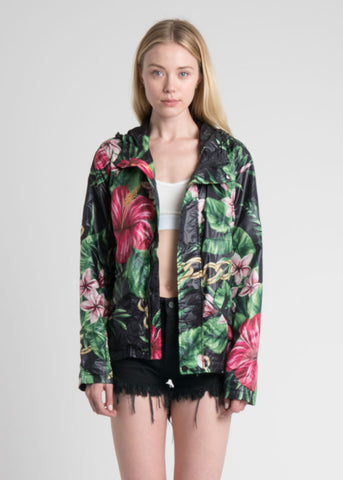 Floral Chains Windbreaker