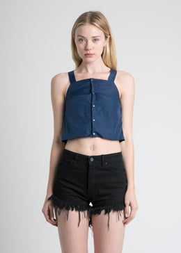 Pull Away Tank in Navy Blue