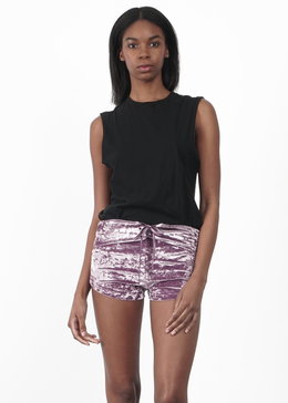 Lavender Velvet Crush Shorts