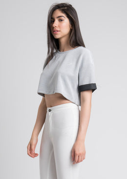 Leesa Crop Top in White View 2