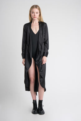 Satin Duster in Black
