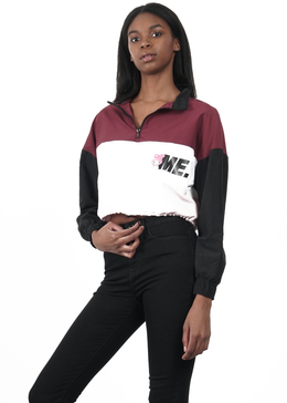 ME X My Melody Windbreaker in Burgundy