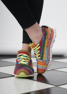Rainbow Knit Sneakers