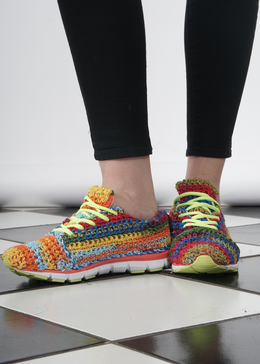 Rainbow Knit Sneakers View 2