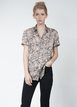Python Short Sleeve Button Down