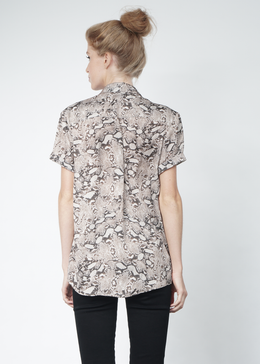 Python Short Sleeve Button Down View 2