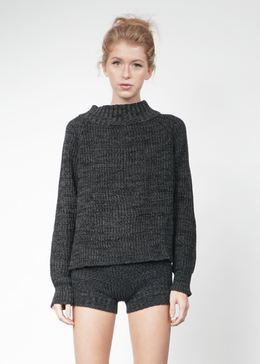 Knit Hotpants in Charcoal