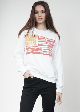 Breakfast Flag Crewneck