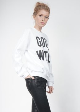 Good Witch Crewneck in White View 2