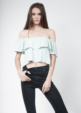 Lenore Off-the-Shoulder Ruffle Top
