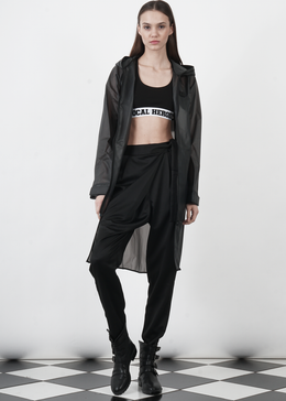 Influence Rain Jacket in Transparent Black