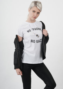 No 'Pagne No Gain Tee