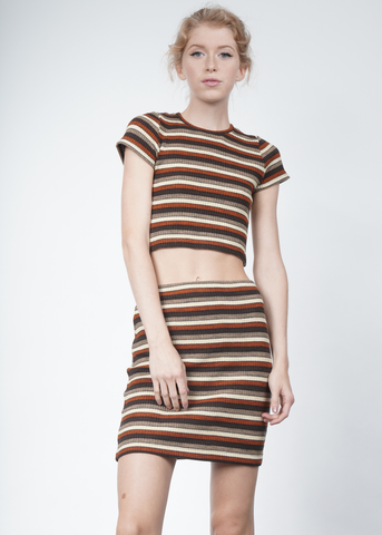 Marsha Striped Crop Top