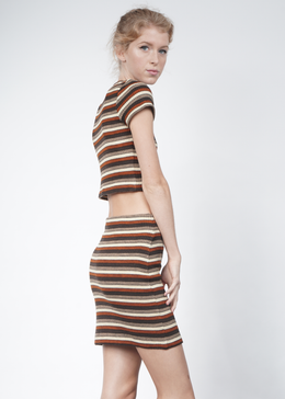 Marsha Striped Crop Top View 2