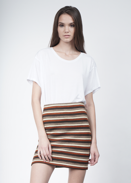Marsha Striped Knit Mini Skirt