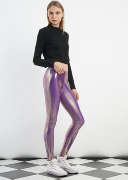 Molten Gold Lavender Leggings View 2