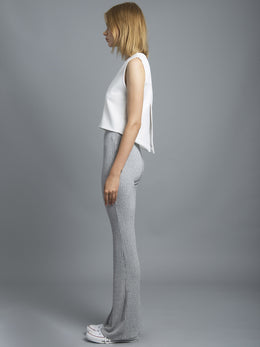 Salt & Pepper Knit Slim Flare View 2