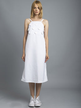 Acrylic Trim Midi Dress