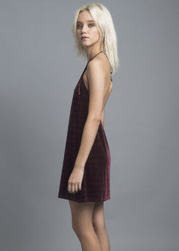 Velvet Slip Dress View 2
