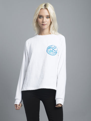 Wipeout White Towel Sweatshirt