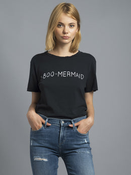 1-800-Mermaid Distressed Tee