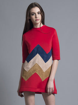 Zig Zag A-Line Dress