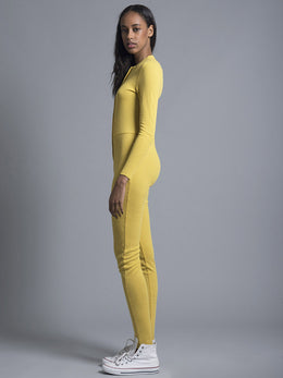 Yellow Long Overalls View 2