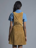 Mustard Corduroy Pinafore Dress
