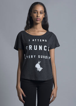 I Attend Brunch Every Sunday Dolman Tee