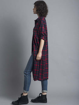 Tartan Check Shirt Dress View 2